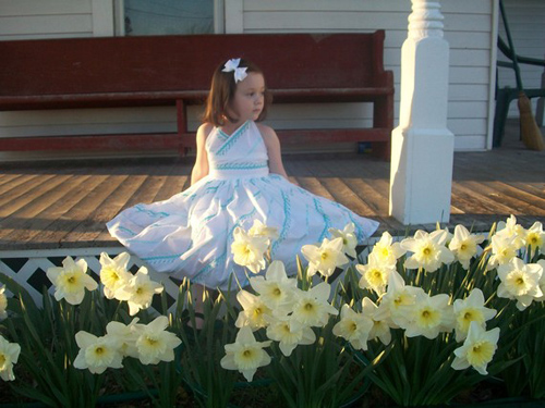 Blue and White Girls Party Dress Perfect for Easter 2t 3t 4t 5t and Size 6.jpeg